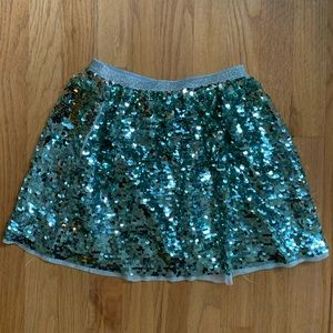 H&M Girls Blue Sequin Skirt size 9-10 Years